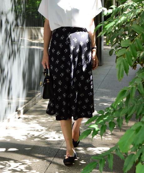 agnes.b/flower pattern skirt