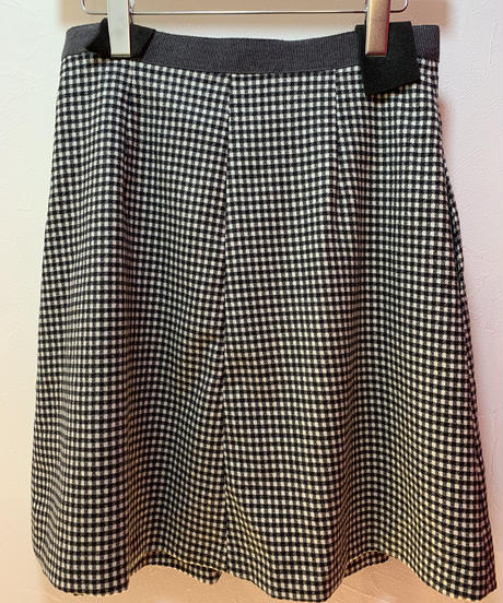 MAX MARA/ vintage design check skirt.