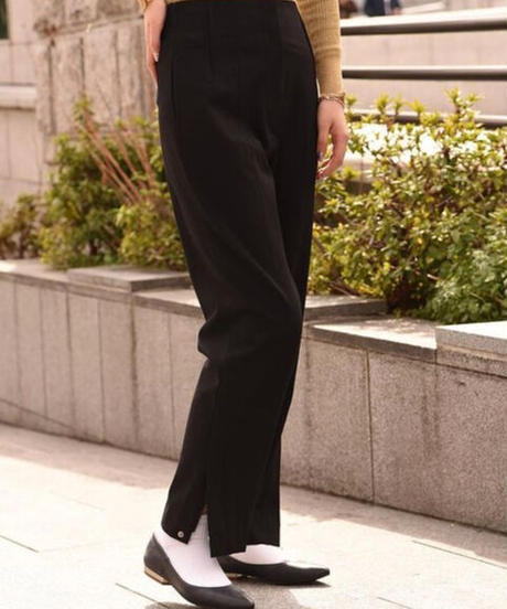 MAX MARA(SPORT MAX) / vintage black straight pants.