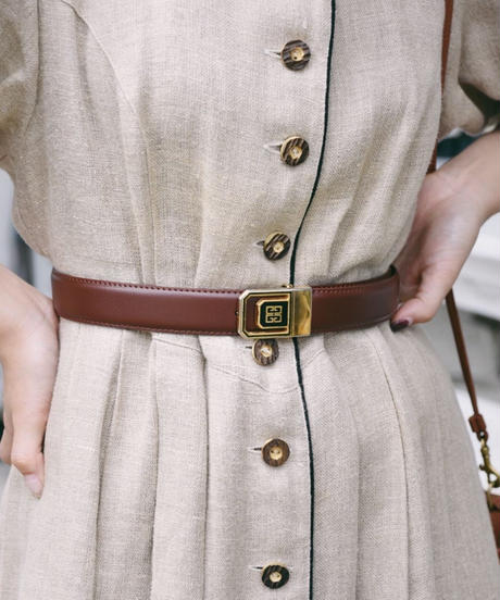 GIVENCHY/ buckle gold belt