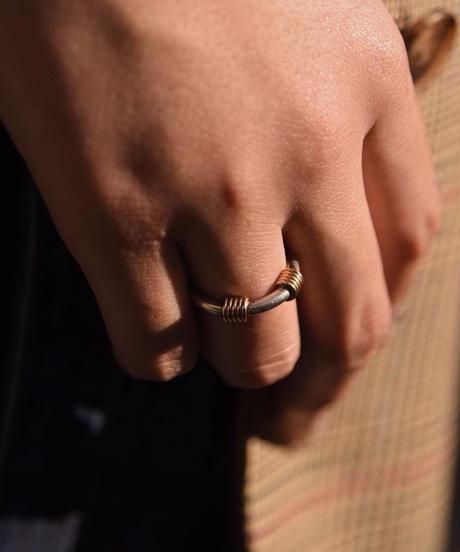 Tiffany&Co./ 18k&silver mix ring.