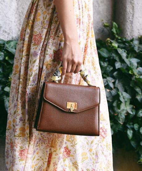 courreges/ 2way square bag