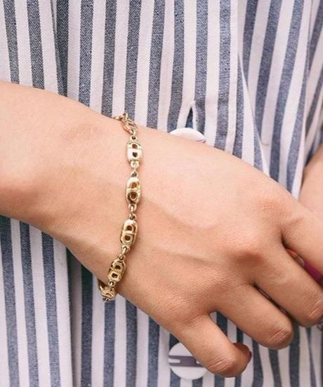 Christian Dior/ logo gold bracelet