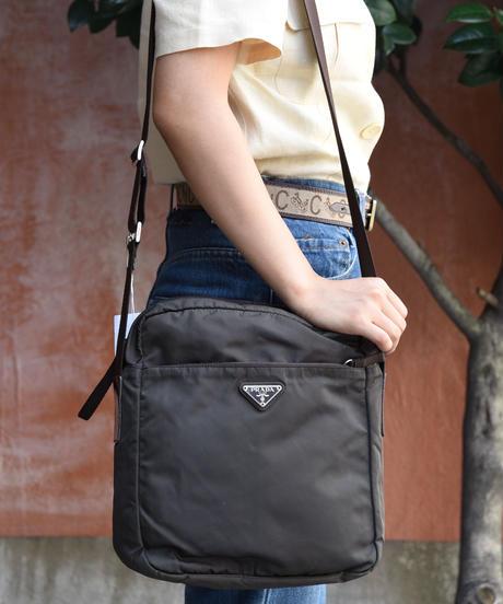 PRADA/ Nylon shoulder bag.