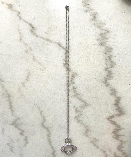 Vivienne Westwood / vintage big orb silver necklace. (U)