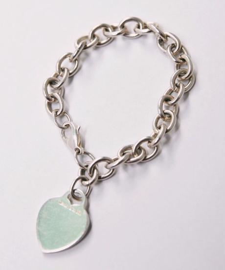 Tiffany&Co./ Heart charm  bracelet