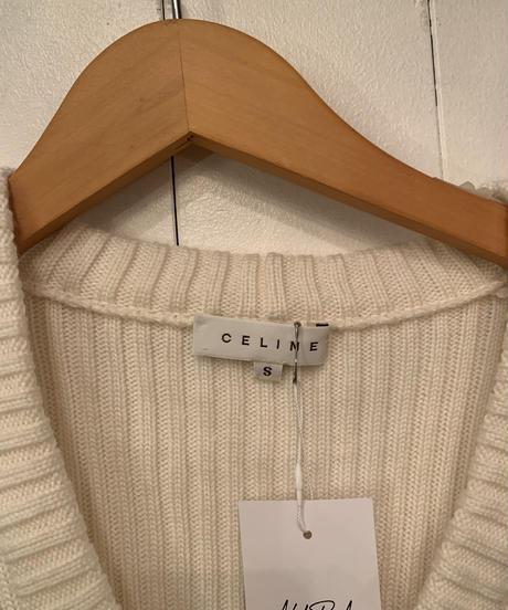 CELINE/ vintage design knit one-piece .