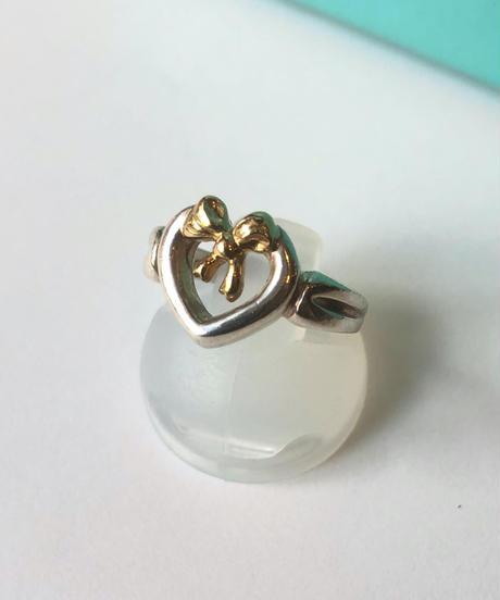 Tiffany&Co./18k×silver925 heart motif ring.(U)