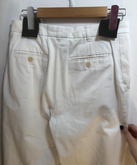 MAX MARA / vintage white straight slacks.