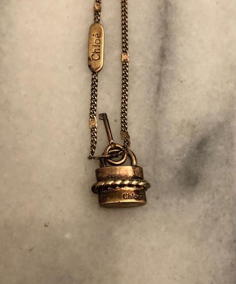 Chloe/vintage key motif  gold bracelet
