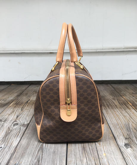 CELINE/vintage macadam boston bag.( beige)(U)