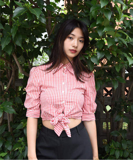 D&G/gingham check shirt