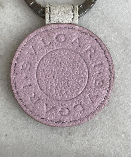 BVLGARI/ vintage round logo key ring.
