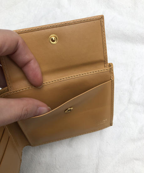 CELINE / vintage macadam bi-fold wallet.