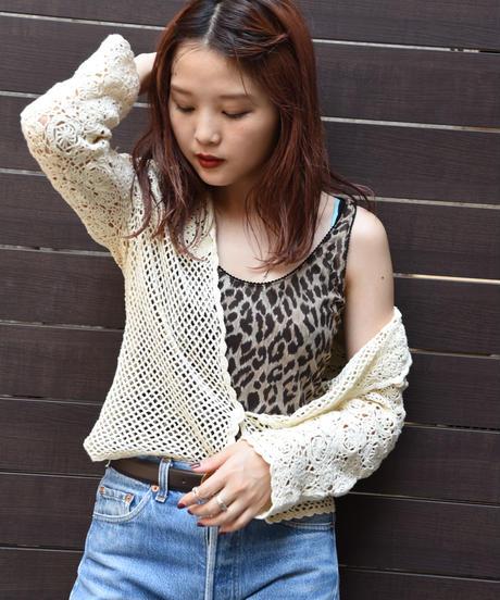 BALENCIAGA/ Crochet summer knit tops