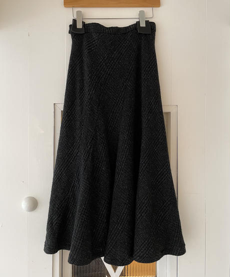 Comme des Garcons/ vintage check design long skirt.