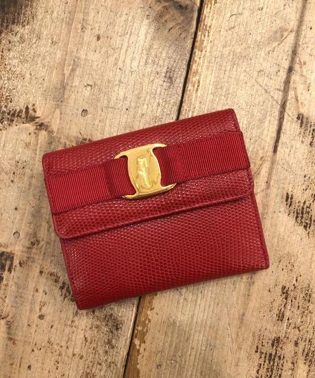 Salvatore Ferragamo/ vara ribbon leather mini wallet
