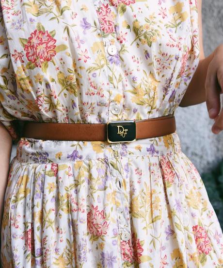 Dior/logo  leather belt