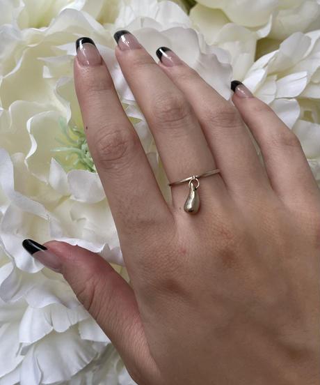 """Tiffany&Co./vintage """"TEAR DROP"""" ring .  427007C(U)"""
