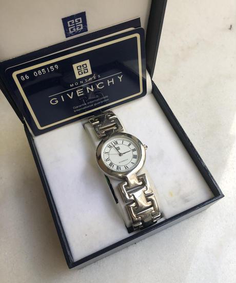 GIVENCHY/vintage silver round quartz(U)