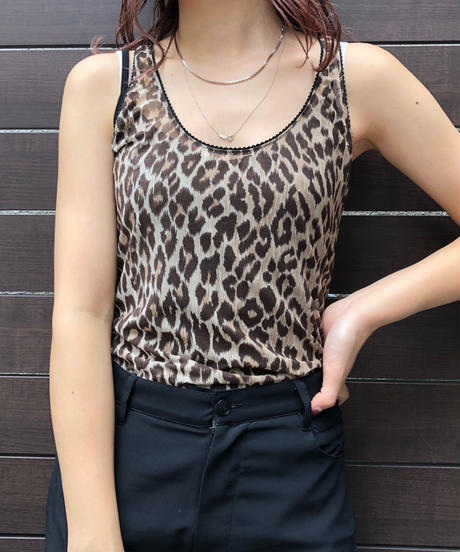 D&G/ leopard sleeveless tops