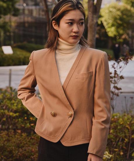 Christian Dior / vintage simple jacket.