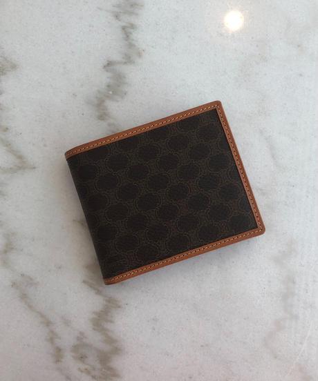 CELINE/ vintage macadam mini wallet.