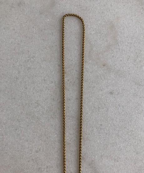 CELINE / vintage round logo necklace(large).