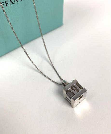 """Tiffany&Co./vintage """"ATLAS"""" cube necklace."""