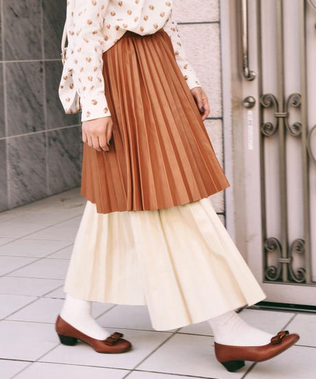 AURA/ layered pleats skirt