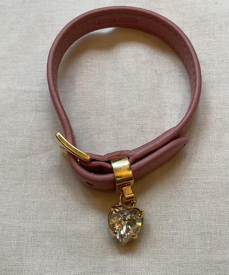 miu miu / vintage gold×pink bracelet.