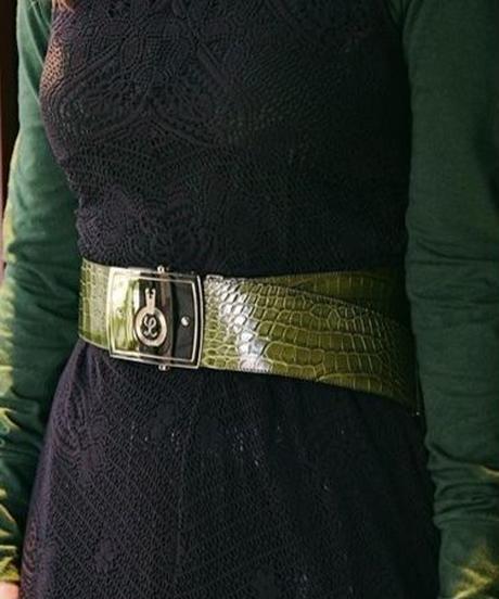 LOEWE/ crocodile GI  belt.
