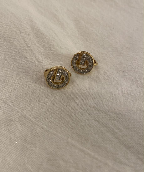 GIVENCHY /vintage G logo stone earring.