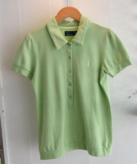 FRED PERRY/  cotton polo shirt-light green.