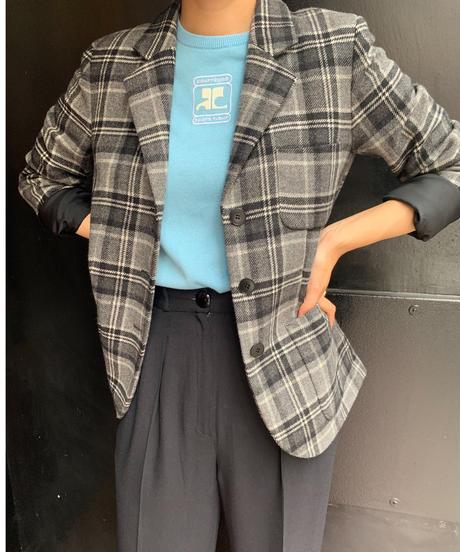 agnes b./ vintage check design jacket.