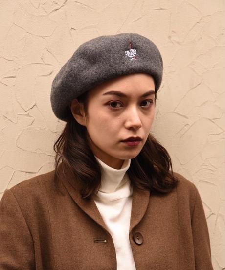Paris vintage / Paris souvenir beret.(gray)(P)