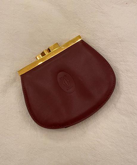 cartier/ vintage logo purse  coin case.