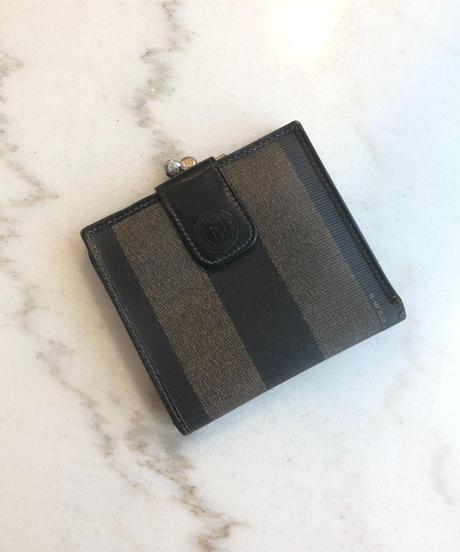 FENDI/ vintage pecan wallet.