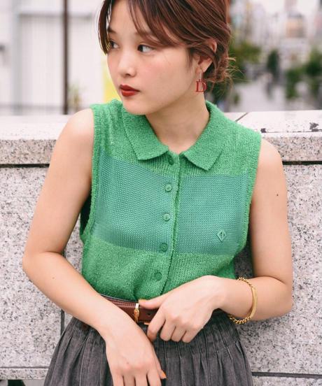Christian Dior SPORT/cotton knit no-sleeve shirt