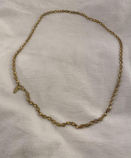 Chloe /vintage design  gold long necklace.