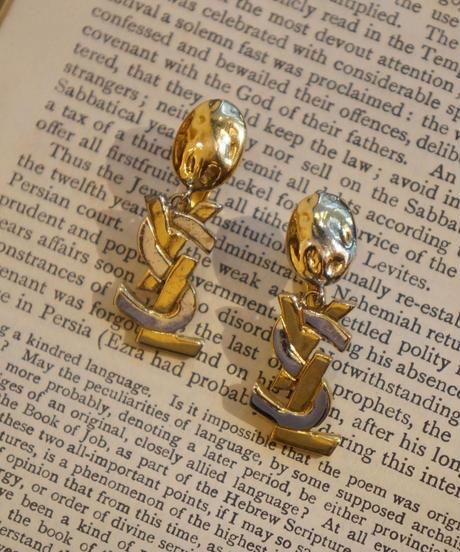 Yves Saint Laurent/ YSL logo earring