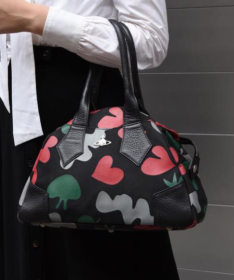 Vivienne Westwood/ Heart motif leather  handbag.