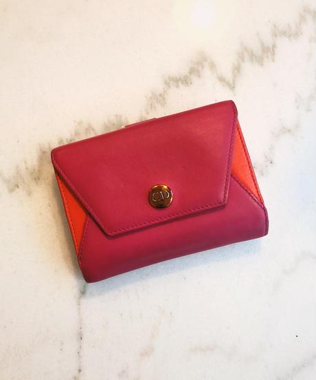 Christian Dior/ vintage logo letter motif wallet.