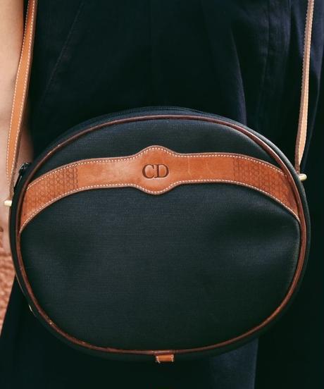 Christian Dior/pvc logo  leather shoulder bag