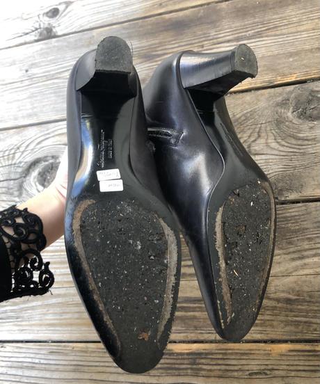Salvatore Ferragamo/ Vintage leather short boots