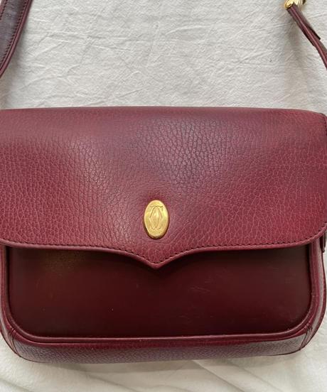 Cartier/vintage bi-color &trinty design shoulder bag. ③