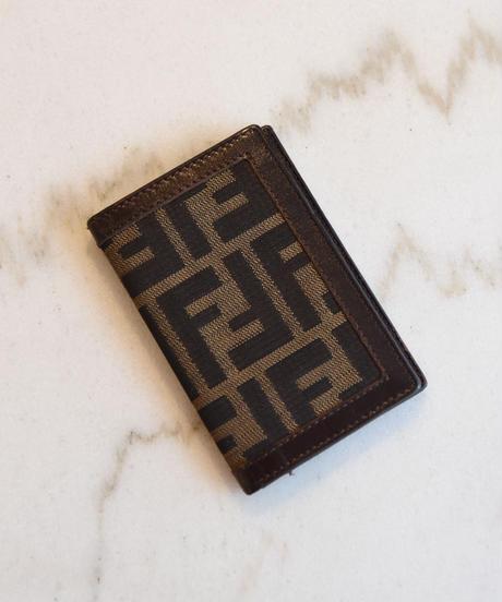 FENDI/zucca pattern card case