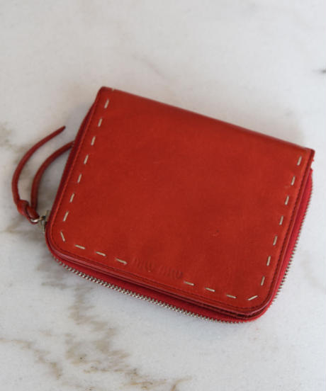 miumiu/ Leather stitch wallet