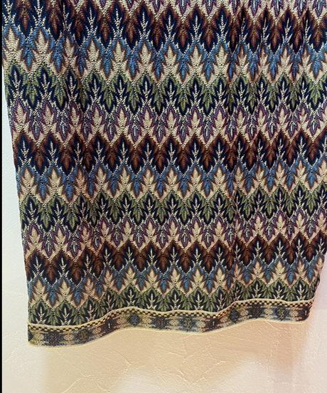 MISSONI / vintage glitter design skirt.