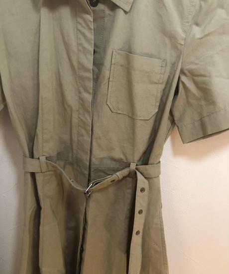 MAX MARA/ vintage belt design shirt one-piece.